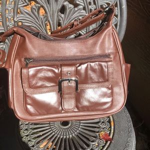 Gorgeous brown leather pocketbook
